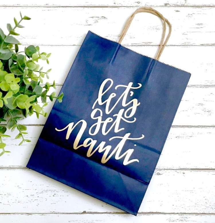 Nautical Bachelorette Party Ideas - gift bags