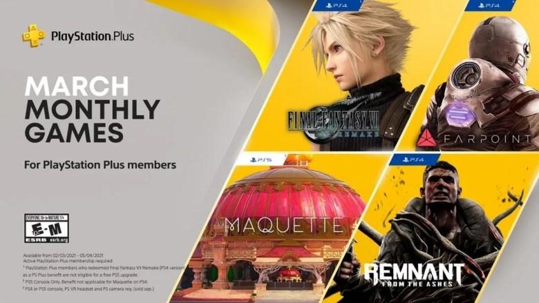 PlayStation Plus March 2021