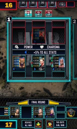 WWE SuperCard War Games Match