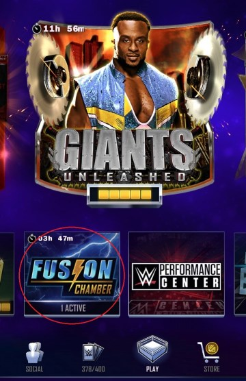 WWE SuperCard Fusion Chamber Location