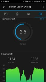 Onechristianman.com 20 Mile ride 09/15/2018 Training Effect