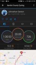 Onechristianman.com 20 Mile ride 09/15/2018