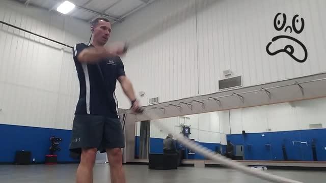 Beginner Battle Rope Wave Workout