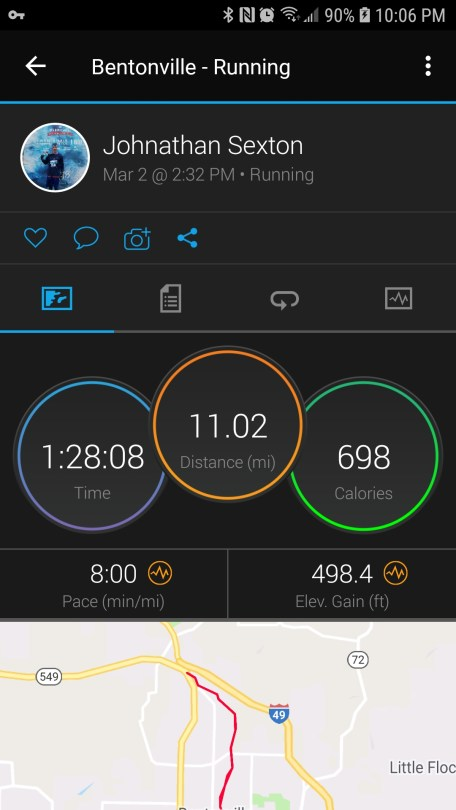 Bentonville Half Marathon Training onechristianman.com