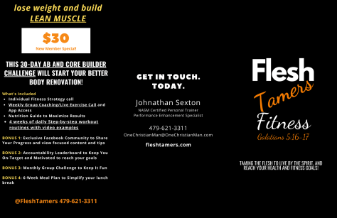 Flesh Tamers Brochure