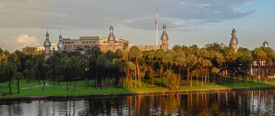 The University of Tampa is a beautiful place and campus is located right off the bay.