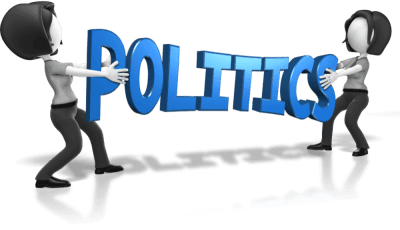 An image of the word politics.