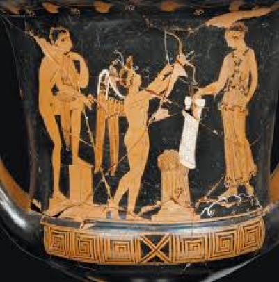 This is an image of a vase from Ancient Greece.