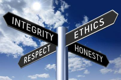 This image demonstrates some of the underlying ethics and values needed for those in the justice system.