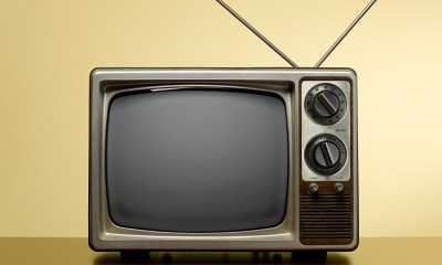An old television set.
