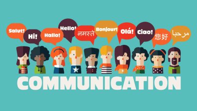 An image of the word communication.