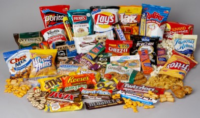 An image of chips and candy.