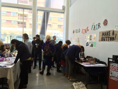 Students at a past Zine Fair