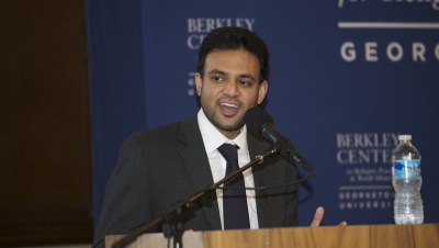 A representative from the National Security Affairs during a debate at the University of South Carolina