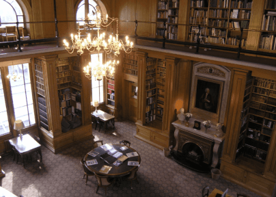 This is inside the library
