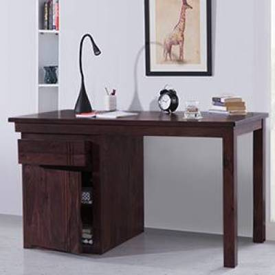 typical brown wooden desk