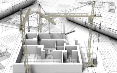 The blue print and architectural design of a building