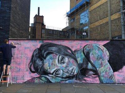 a wall of street art
