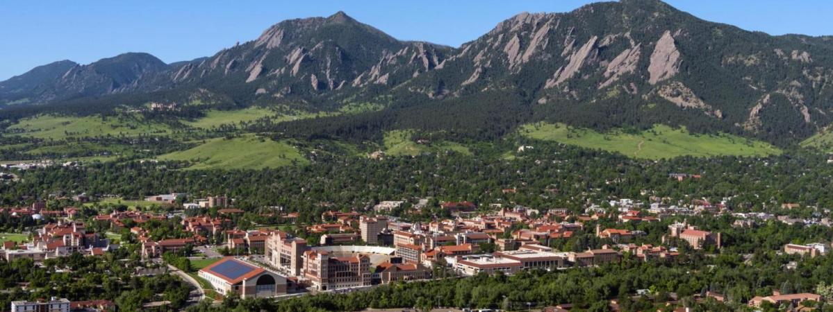 An aerial view of University of Colorado - Boulder