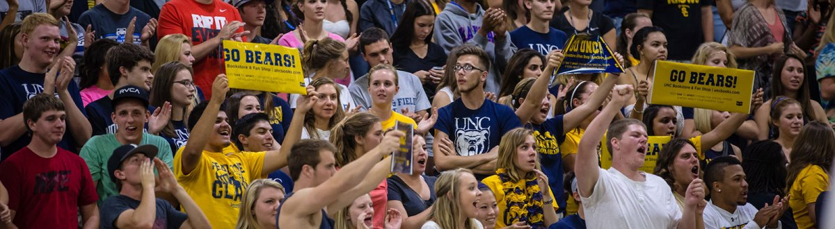 University of Northern Colorado students gather at a game
