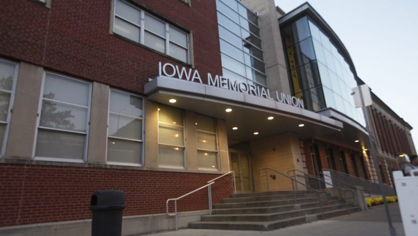 This is the Iowa Memorial Union. It is the home for students to find positions for jobs as well as a great relaxing place for them to study and learn. Inside, there is also a hotel for everyone, not just Iowa students or parents, and a restaurant.