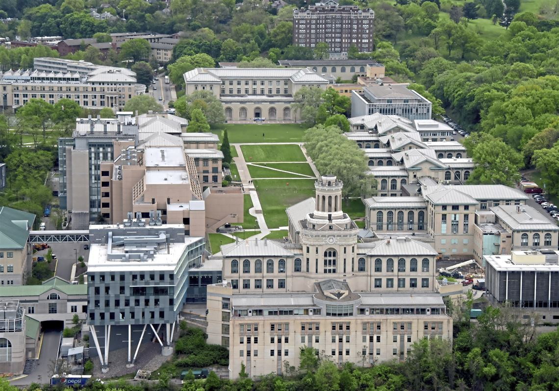 An aerial view of Carnegie Mellon University