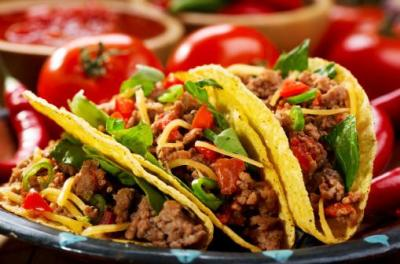 Delicious Taco filled with beef and veggies