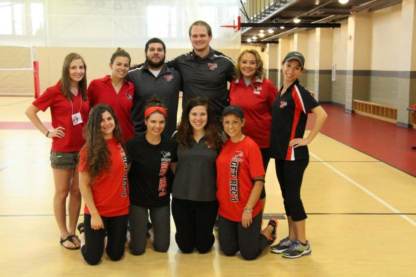 Student and staff of Campus Recreation