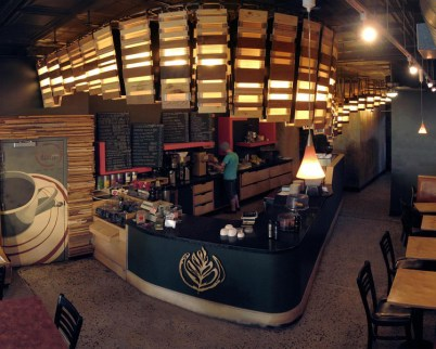 the inside of the coffee shop