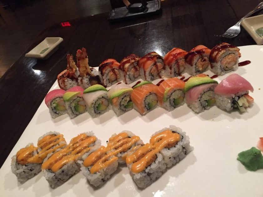 Some sushi from the menu