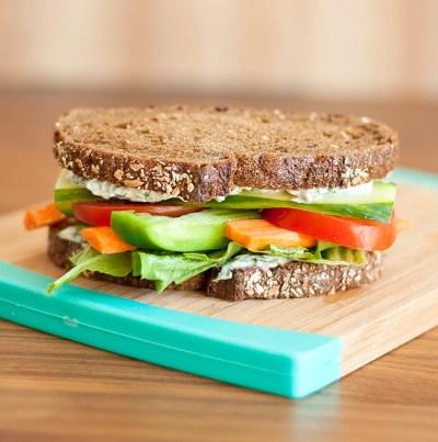 fresh sandwich serving