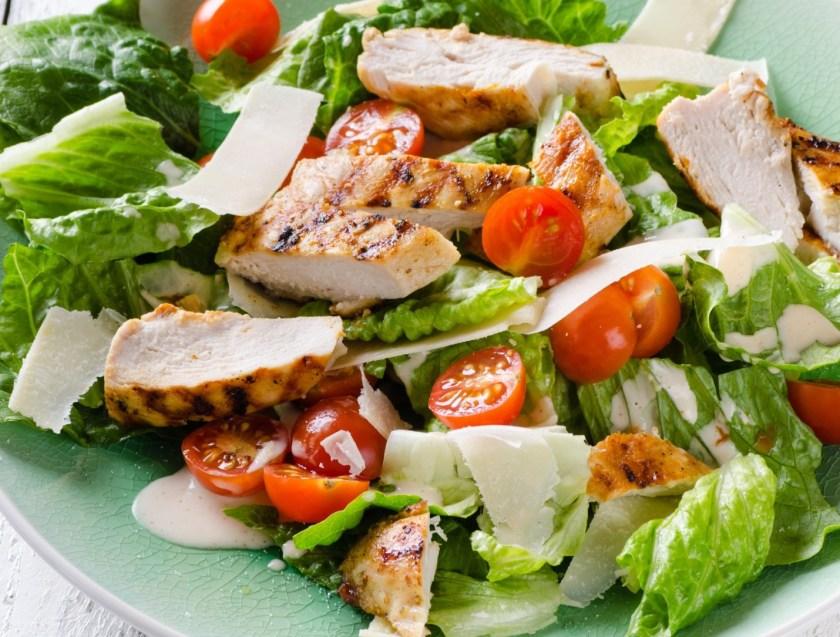 Served chicken salad at Vanbrugh Dining