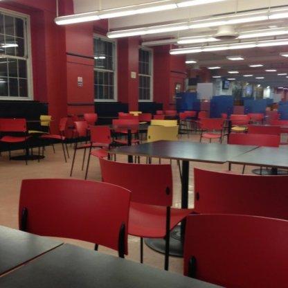 The interior of Boylan Hall Cafeteria