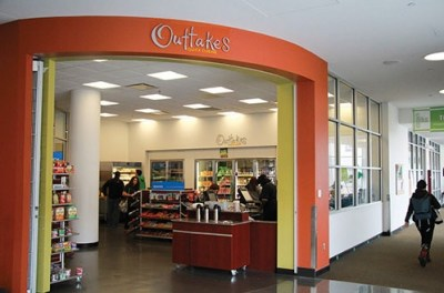 Outtakes store is ideal for snacks and beverages