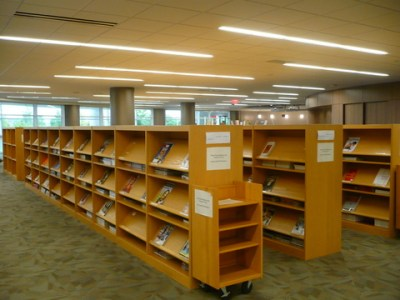Periodicals collection shelves