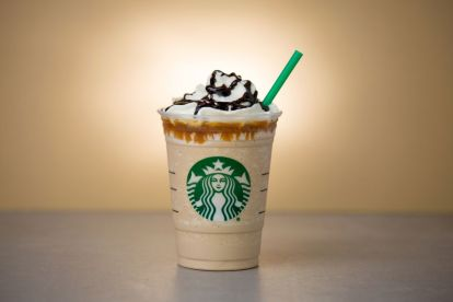 A picture of a sweet ice-cream at Starbucks