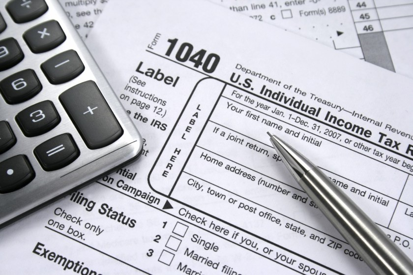 US Individial Income Tax form and calculator
