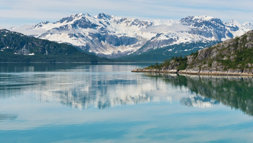 Landscape picture of Glacier Bay National Park in Alaska
