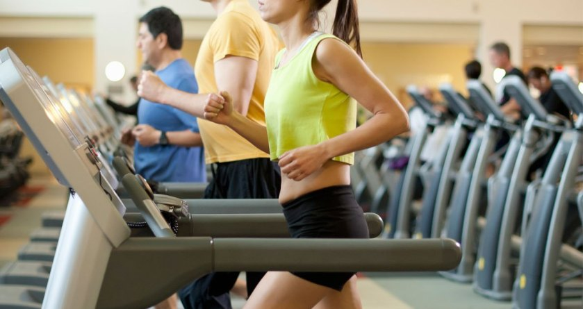 Picture of people on treadmills at the gym