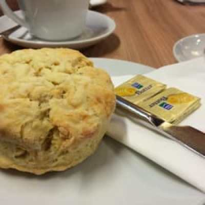 cheese scone with butter