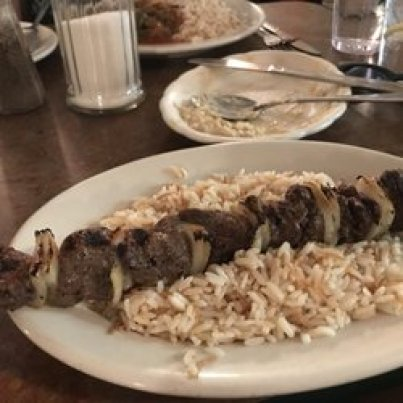 rice and onion meat skewer