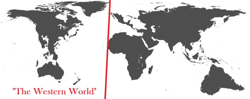 TheWesternWorld is seenasthe Americas