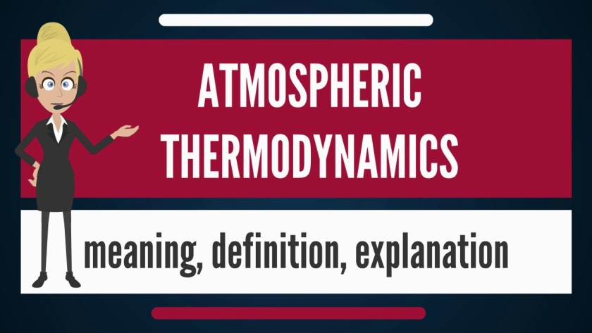 A poster written Atmospheric Thermodynamics