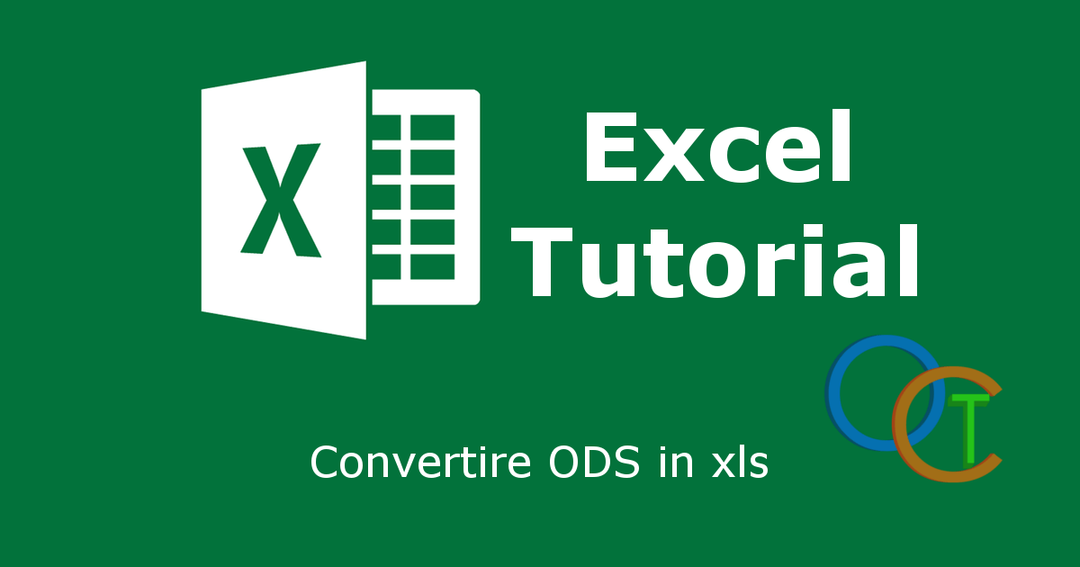Convertire ODS in xls