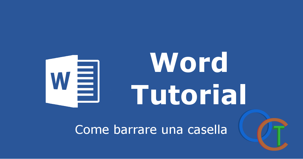 Come barrare una casella in WORD