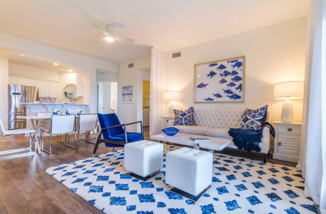 ONE Club Condo Unit Living Room