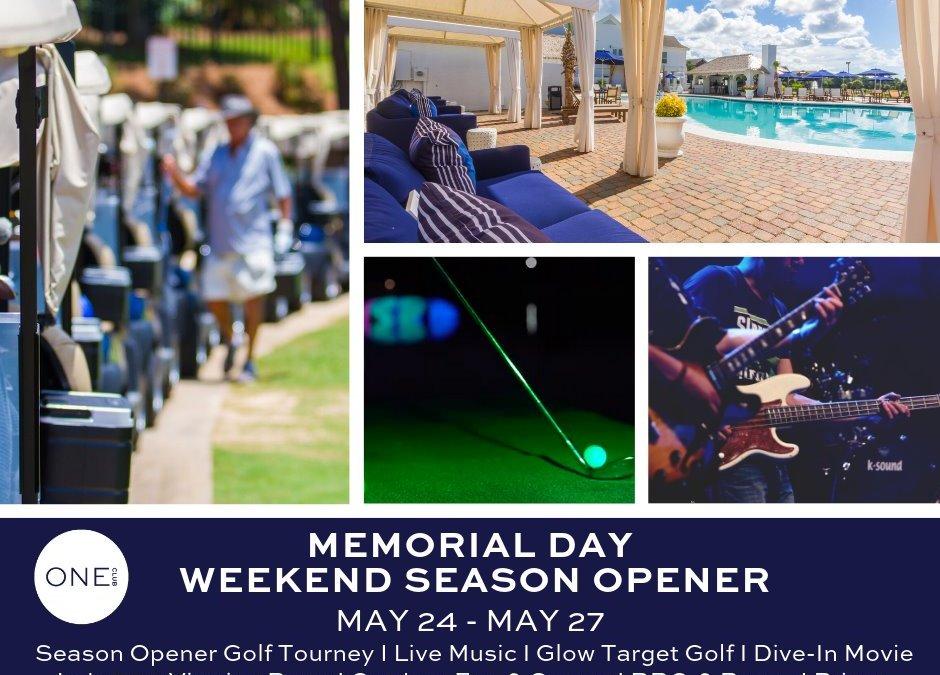 Memorial Day Weekend 5/24- 5/26