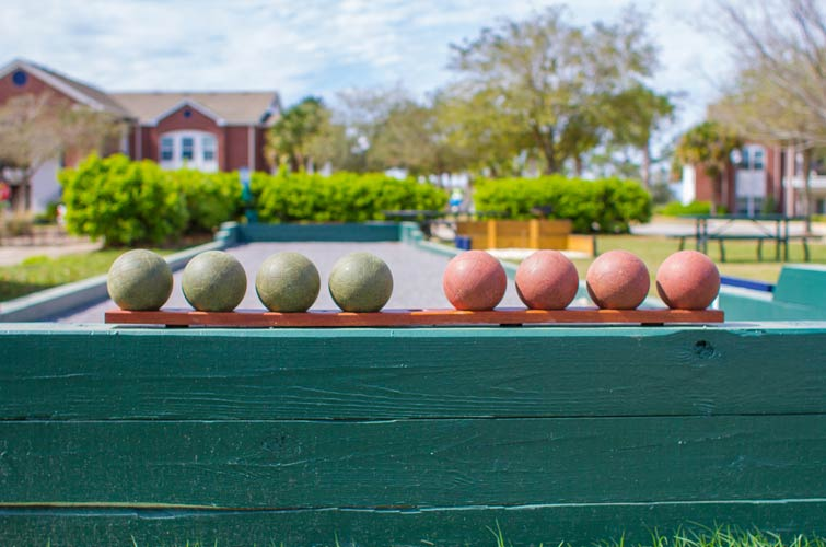 bocce court at ONE CLUB golf resort
