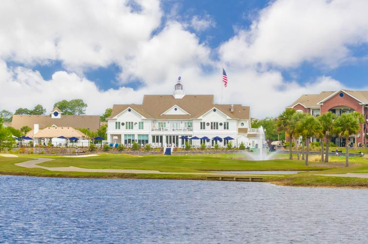 view of ONE CLUB golf clubhouse