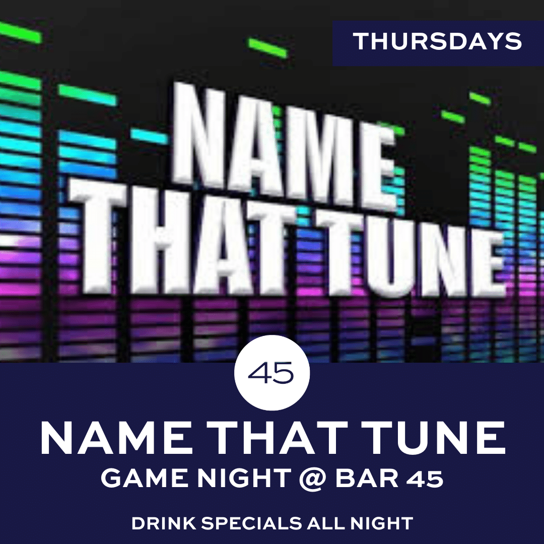 Name That Tune Entertainment at Bar 45 Gulf Shores
